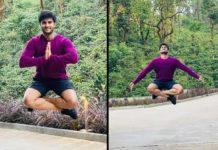 Sudheer Babustays in Air for Yoga
