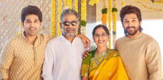 Allu brothers with mom Nirmala