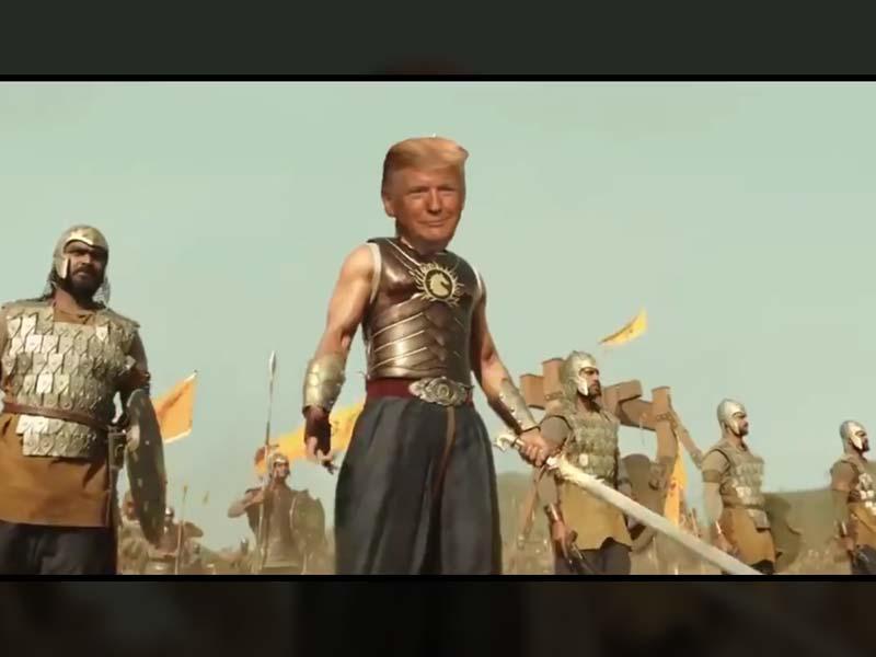 Donald Trump tweets Baahubali meme