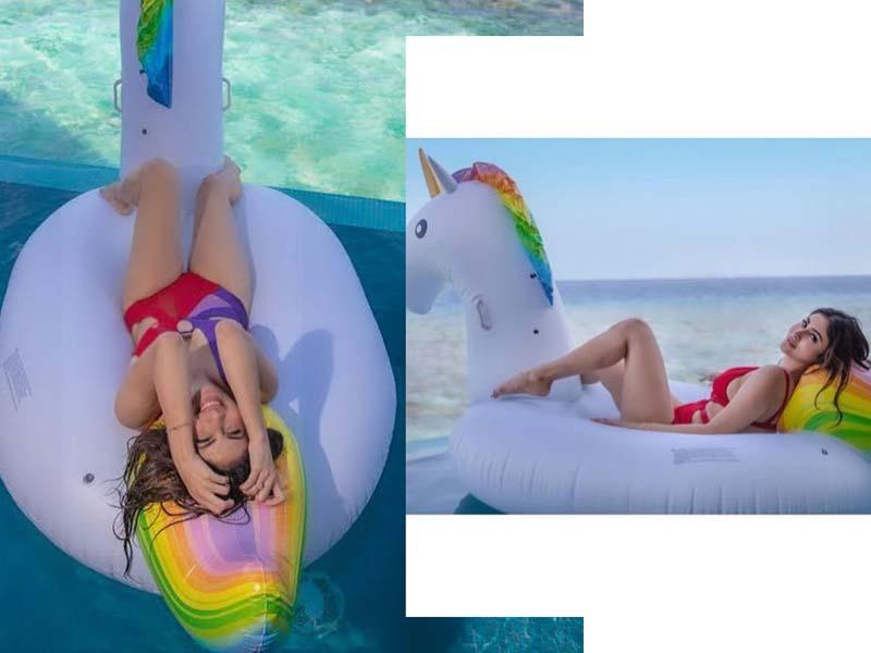 KGF Item Girl sensuous look in Bikini