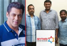 Mythri Movie Makers next with Salman Khan