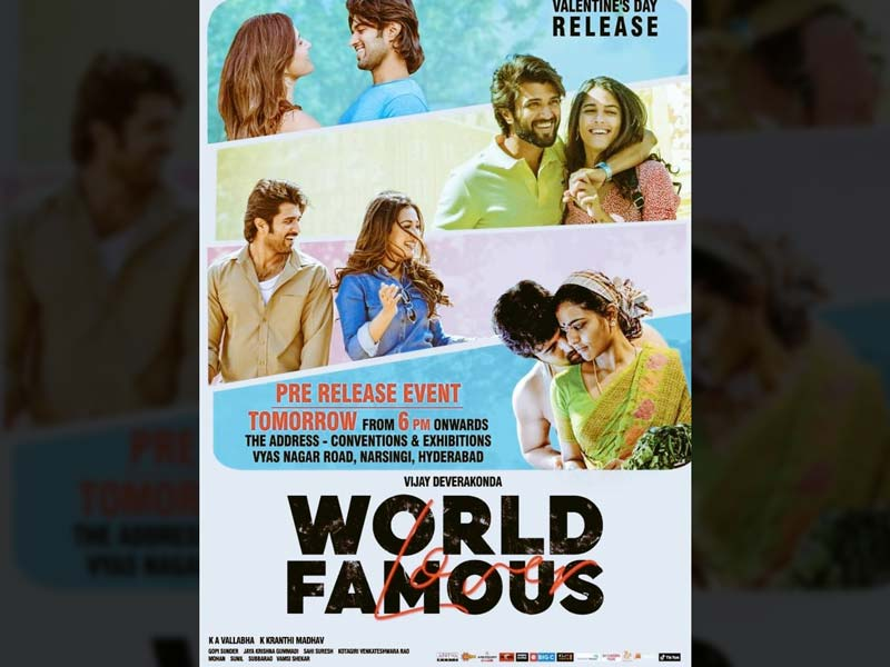 World Famous Lover 3 Days AP TS collections