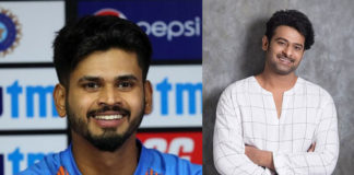 Cricketer Shreyas Iyer is fan of Prabhas