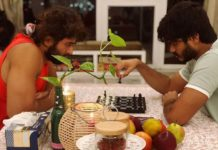 Deverakonda brothers playing chess