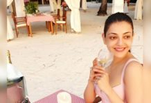Kajal Aggarwal having Alcohol!
