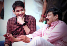 Mahesh Babu welcomes Chiranjeevi on First Day
