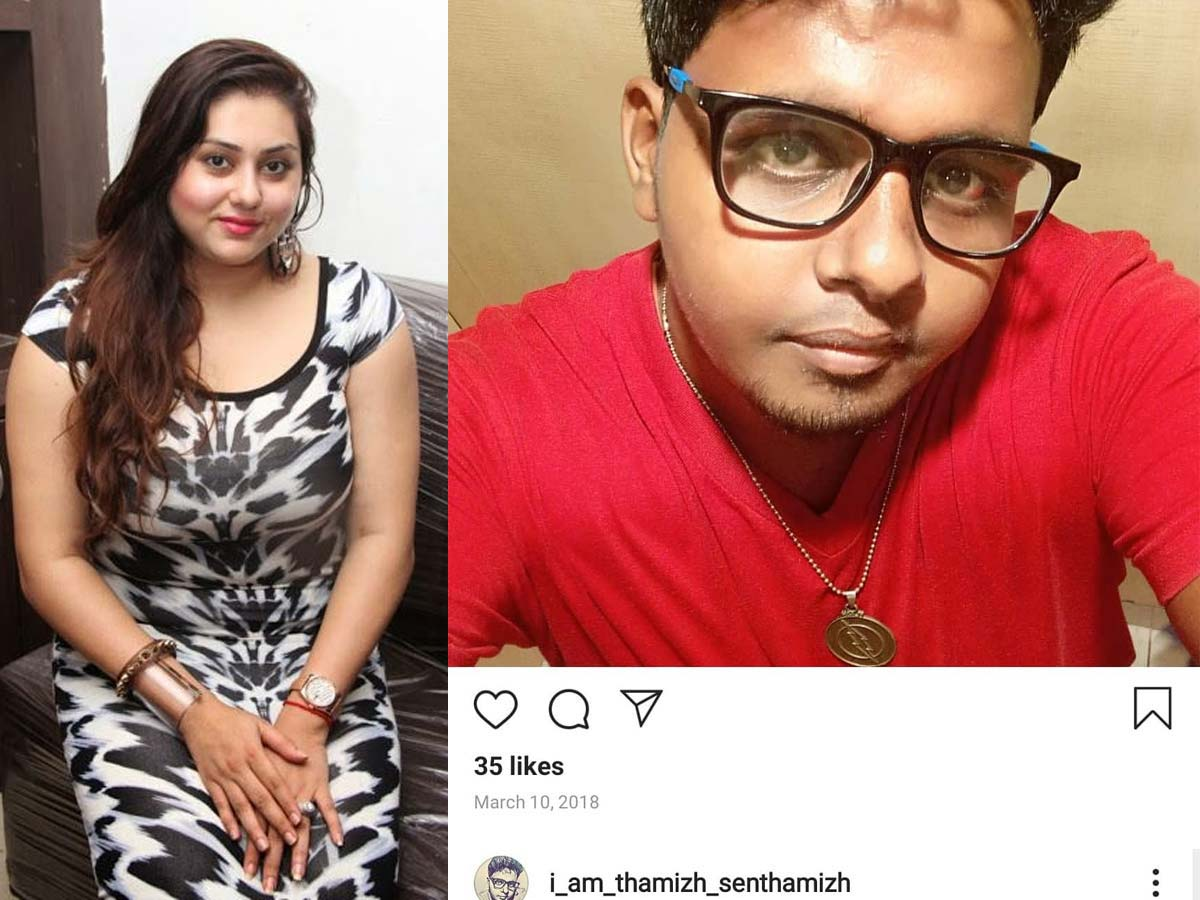 Namitha exposes a person who calls her P*rn