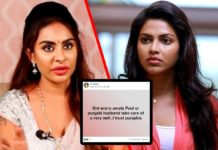 Sri Reddy says Amala Paul your Punjabi husband take care of u