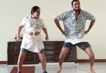 Actress Pragathi lungi dance viral