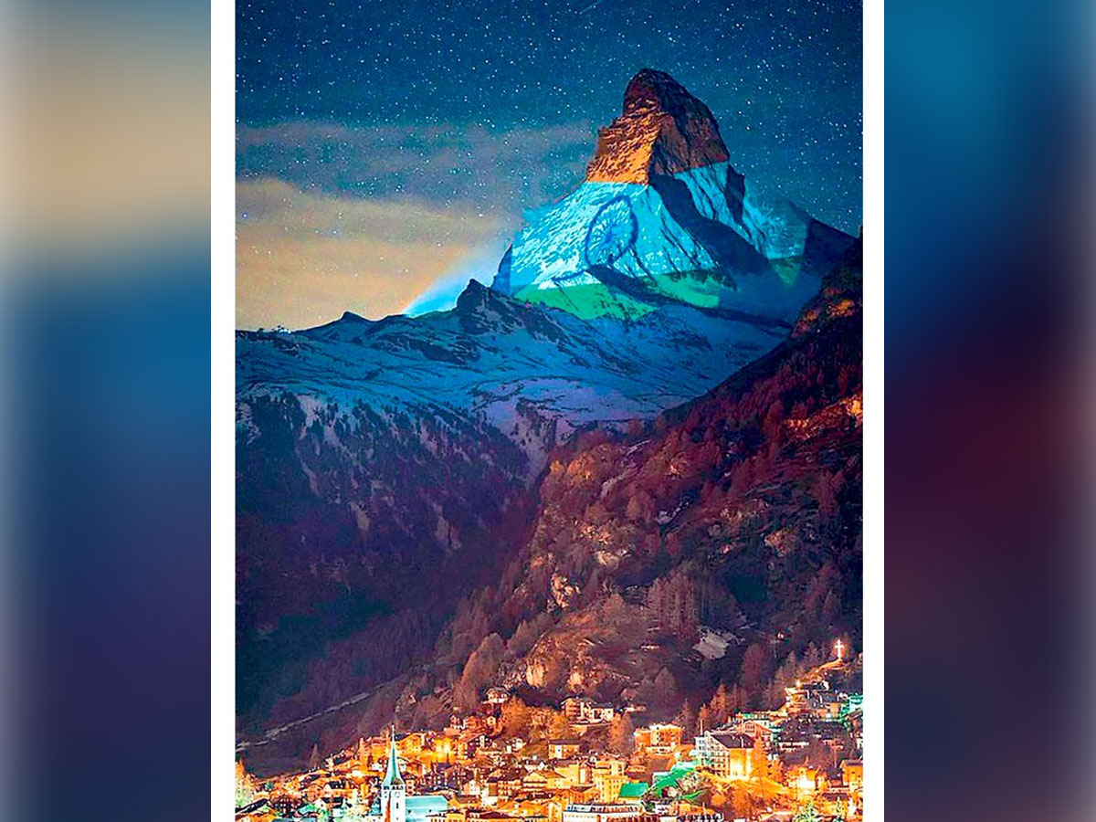 Allu Arjun Never thought I would see Matterhorn is Tricolour