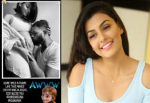 Anisha Ambrose Baby bump kisses by Guna