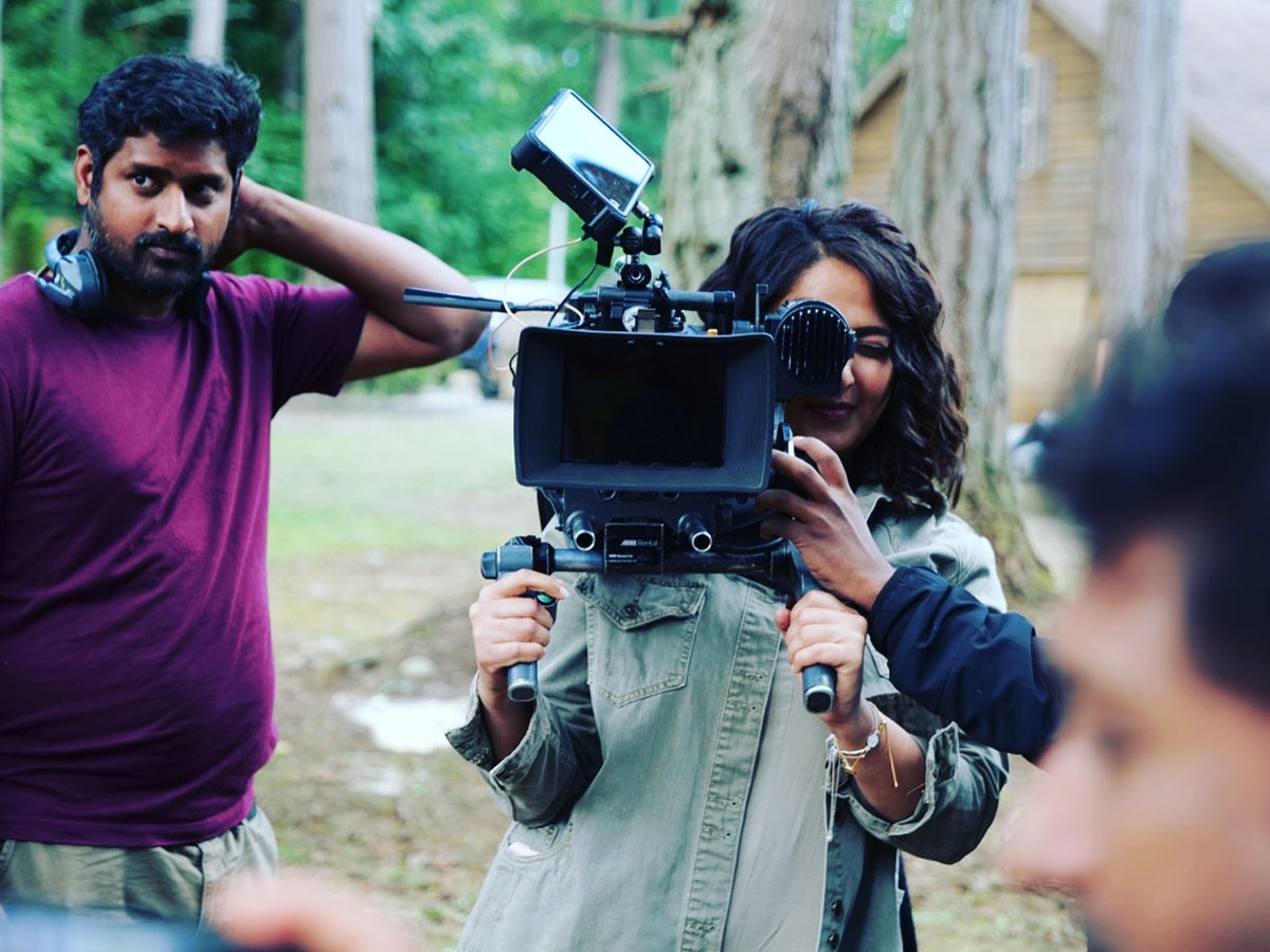 Anushka Shetty handles camera for fun