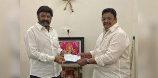 Balakrishna donates Rs 1.25 Cr