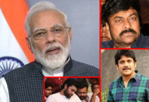 Late night tweet for Nagarjuna and Chiranjeevi from Modi