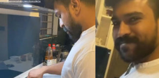 Mr Ram Charan cooking dinner for wife Upasana