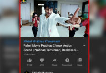 Prabhas Rebel climax action: 100 Million