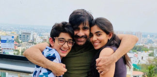 Ravi Teja softly hugs son and daughter