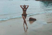 Telugu Girl in two piece bikini