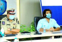 Vijay Deverakonda interacts with Field level officers of Hyd