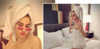 Adah Sharma in Bath towel
