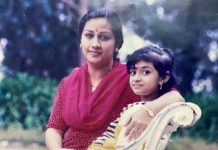 Child Keerthy Suresh with mom Menaka