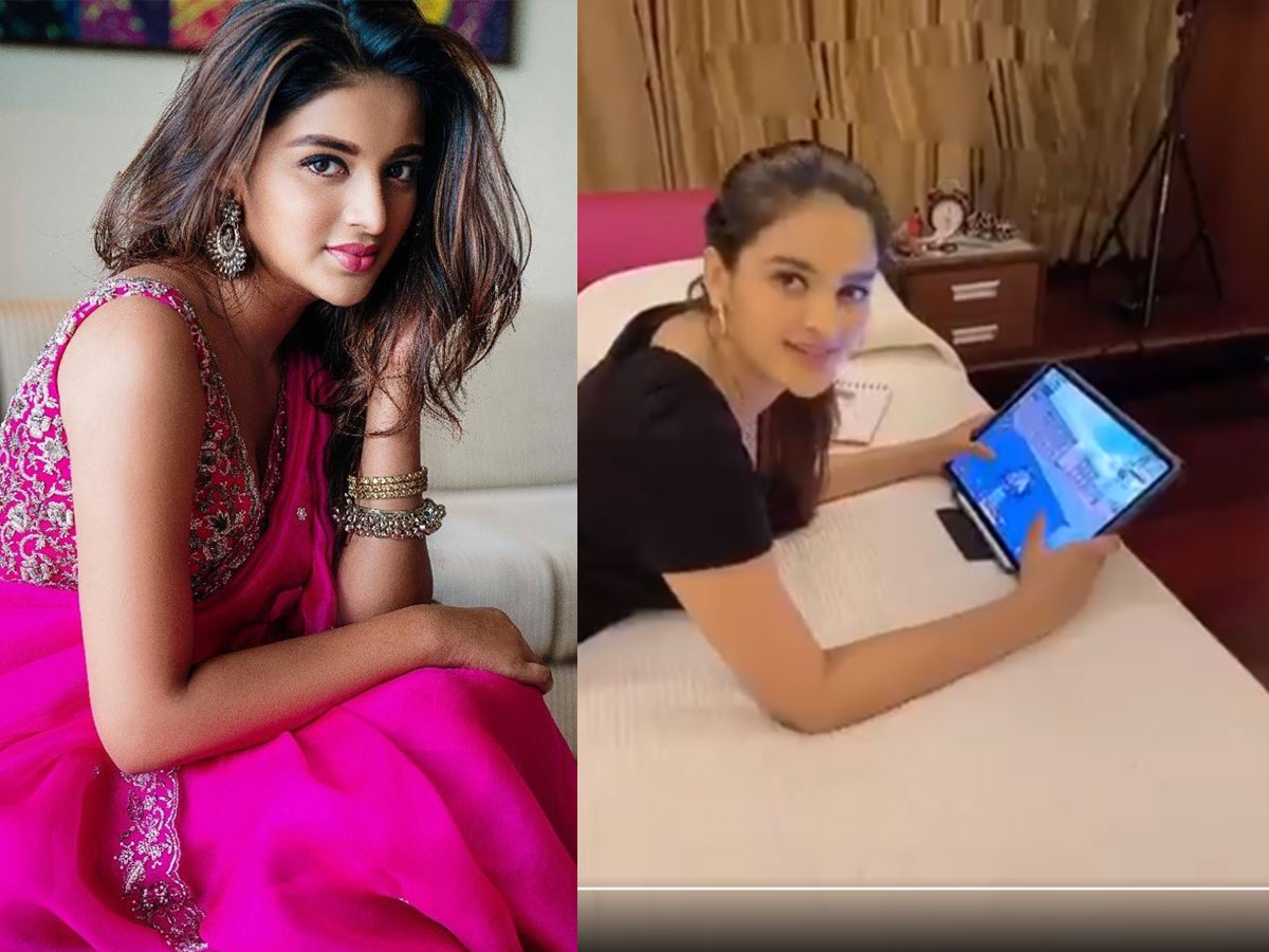 Nidhhi Agerwal caught red handedly!