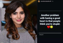 Samantha says to her: People think you are stupid
