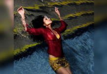 Shriya Saran turns Water Baby