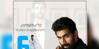 6 Million Twitter Followers for Rana Daggubati