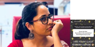 Anasuya gaining weight