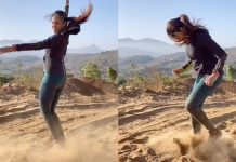 Genelia Baahubali dance on sand