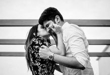 Niharika kissing Chaitanya- Photoshoot: #NisChay