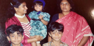 Samantha throwback photo from childhood days