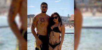 Bikini girl missing boyfriend and beach