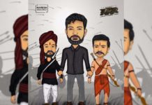 Creativity: Rajamouli holds hands of Ram Charan and Jr NTR