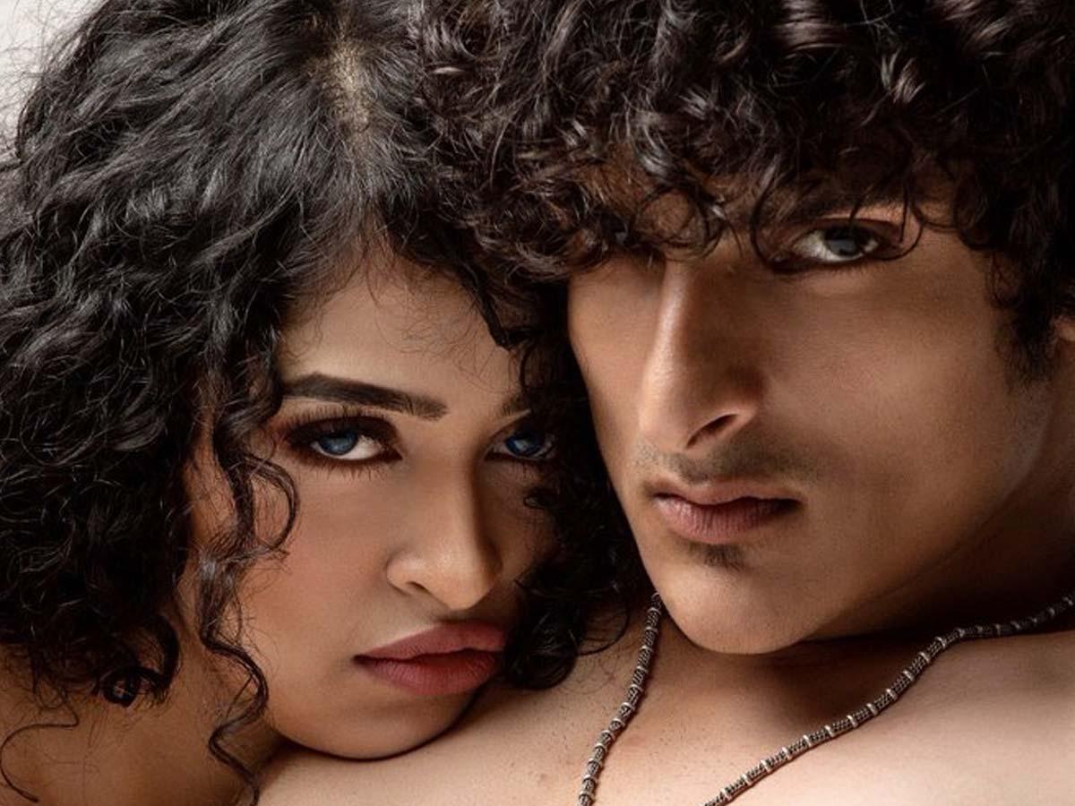 Intimate pose of Apsara Rani with Rock Kacchi