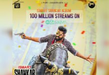 Ismart Shankar Album crosses 100M Streams