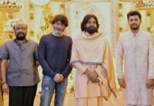 Pawan Kalyan and Trivikram attend Nithiin Pelli Koduku