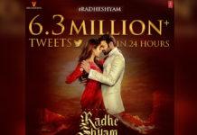 Radhe Shyam title never before record on a single hashtag