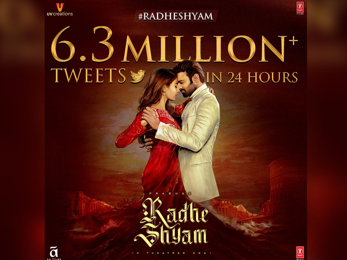 Radhe Shyam title never before record on a single hashtag