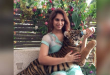 Ram Charan wife feeds Tiger Cub