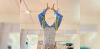 Samantha Akkineni amazes with aerial yoga pose