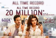 Unimaginable! 25 Million+ @ Akhil Akkineni Mr Majnu