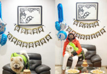 Bellamkonda celebrates his Pet's first birthday