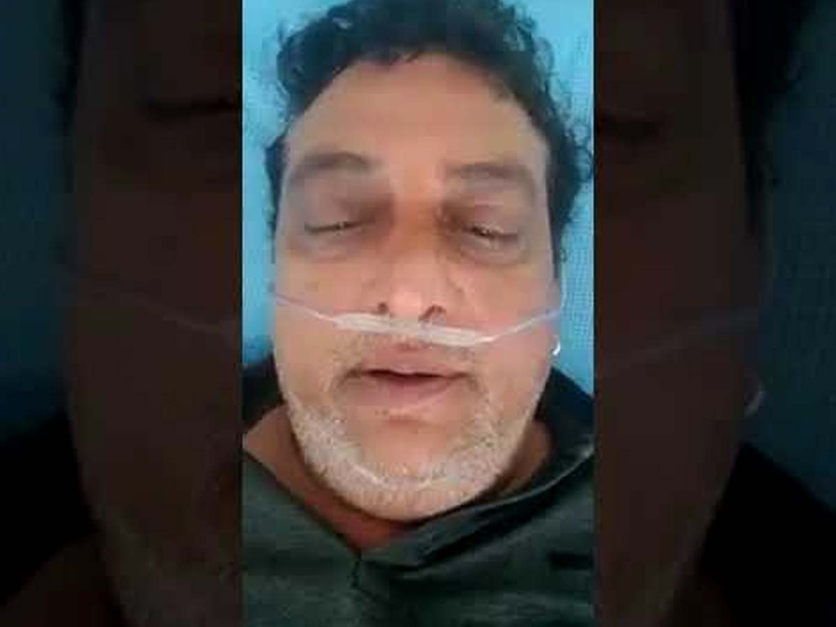30 years Pruthvi hospitalized with symptoms of COVID