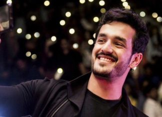 Akhil on the sets of Mahesh Babu Takkari Donga