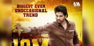 Biggest ever Non-occasional trend for Allu Arjun