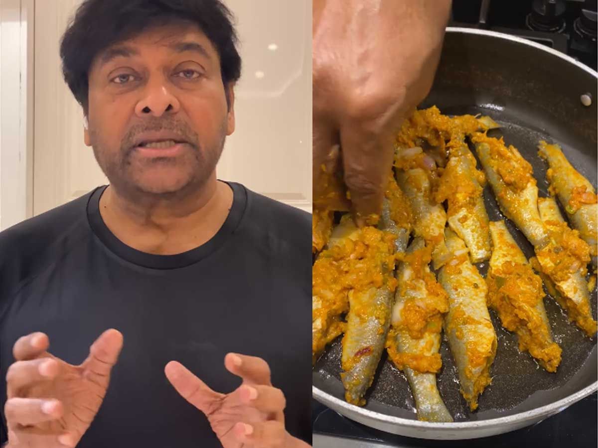 Chiranjeevi cooks fish for his mom