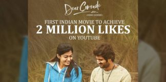 Dear Comrade gets record number of Likes
