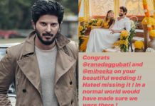 Dulquer Salmaan hate message to Rana Daggubati